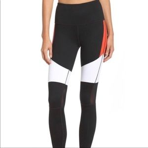 Zella High-Waisted Color Blocked Workout Leggings
